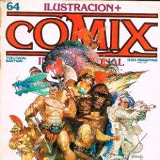 Cómics: ILUSTRACION + COMIX Nº 64. 82 PÁGINAS. COLOR Y BLANCO Y NEGRO. Lote 116596739