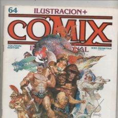 Cómics: ILUSTRACION + COMIX Nº 64. 82 PÁGINAS. COLOR Y BLANCO Y NEGRO.DA. Lote 117013783