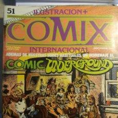 Cómics: COMIX INTERNACIONAL Nº 51,52, 53 Nº EXTRA, EISNER, ROCKETEER, CORBEN. Lote 121602951