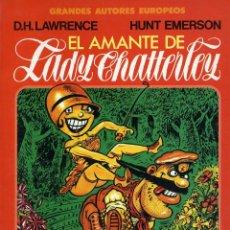 Cómics: EL AMANTE DE LADY CHATTERLEY. D.H. LAWRENCE- HUNT EMERSON. TOUTAIN EDITOR 1986. Lote 121849391