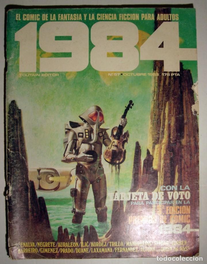COMIC 1984 - Nº 57 - FANTASÍA Y CIENCIA FICCIÓN TOUTAIN EDITOR. (Tebeos y Comics - Toutain - 1984)