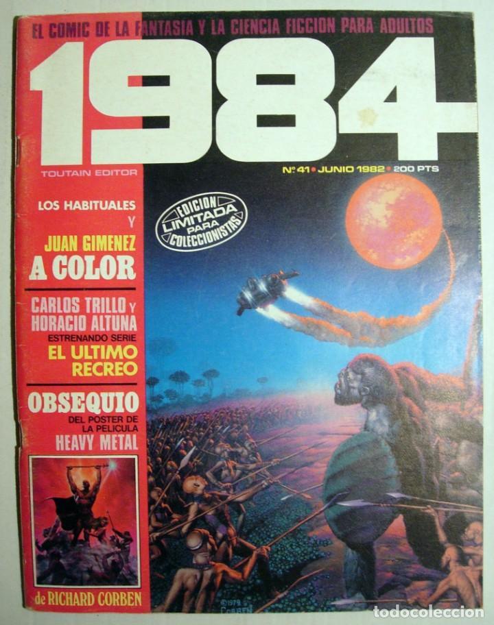 COMIC 1984 - Nº 41 - FANTASÍA Y CIENCIA FICCIÓN TOUTAIN EDITOR. (Tebeos y Comics - Toutain - 1984)