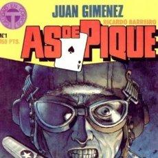 Cómics: AS DE PIQUE- JUAN GIMÉNEZ- Nº 1- CALIDAD EN COMICS T-1988-ESPLÉNDIDO CÓMIC DE AVIACIÓN-M.BUENO- 9308. Lote 254153905