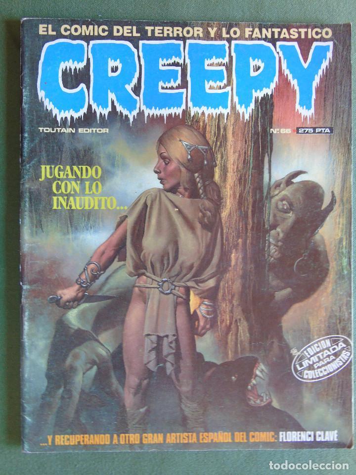 CREEPY. Nº 66. TOUTAIN EDITOR. 1984. EDICIÓN LIMITADA PARA COLECCIONISTAS. (Tebeos y Comics - Toutain - Creepy)