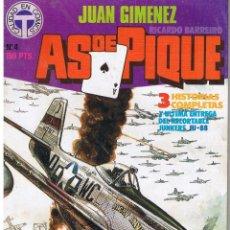 Cómics: AS DE PIQUE - Nº 4 -APASIONANTES HISTORIETAS DE AVIACIÓN- 1988- GENIAL JUAN GIMÉNEZ-M.BUENO-LEA-9444. Lote 254154250