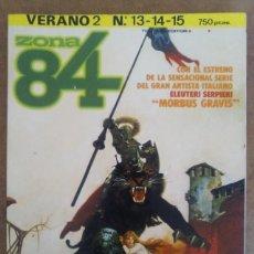 Cómics: ZONA 84 VERANO Nº 2 (RETAPADO CON LOS NUMEROS 13 A 15) TOUTAIN - BUEN ESTADO - OFM15. Lote 135736979