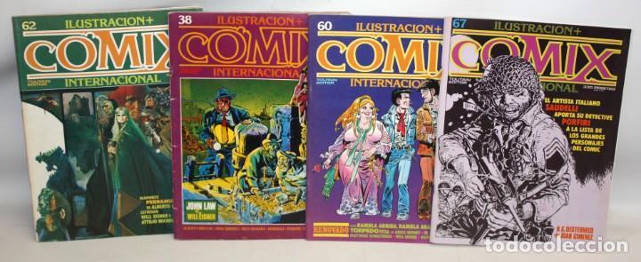 ILUSTRACIÓN + COMIX INTERNACIONAL-4 NUMEROS. (Tebeos y Comics - Toutain - Comix Internacional)