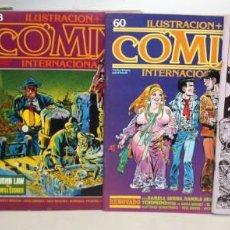 Cómics: ILUSTRACIÓN + COMIX INTERNACIONAL-4 NUMEROS.. Lote 136127878