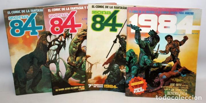 3 COMICS ZONA 84 Y COMIC 1984.TOUTAIN EDITOR. (Tebeos y Comics - Toutain - 1984)