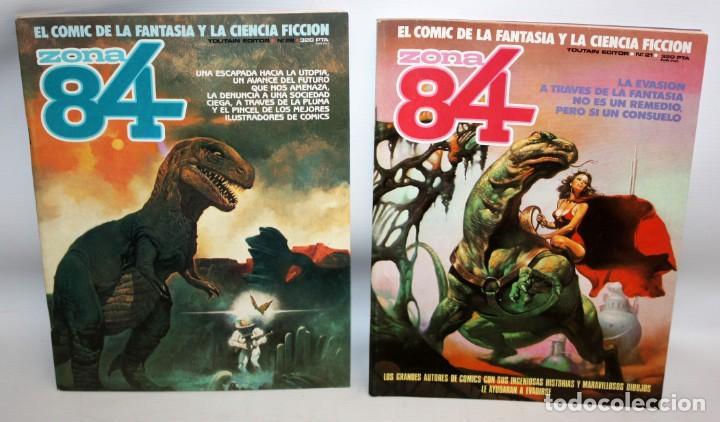 Cómics: 3 COMICS ZONA 84 Y COMIC 1984.TOUTAIN EDITOR. - Foto 2 - 136163742