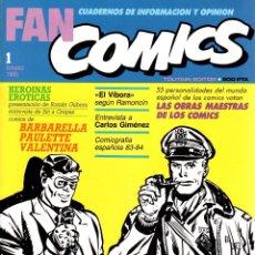 Cómics: FAN COMICS. Nº 1. CUADERNOS DE INFORMACION Y OPINION. VERANO 1985. Lote 136705726