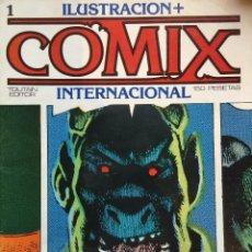 Cómics: LOTE ILUSTRACIÓN + COMIX INTERNACIONAL. TOUTAIN EDITOR. NÚMEROS SUELTOS 1, 3, 4 Y 6. Lote 136899946