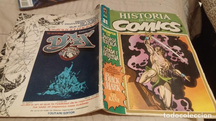 HISTORIA DE LOS COMICS Nº 31 - TOUTAIN EDITOR - COMICS DE FANTASIA HEROICA Y ESPADA Y BRUJERIA (Tebeos y Comics - Toutain - Otros)