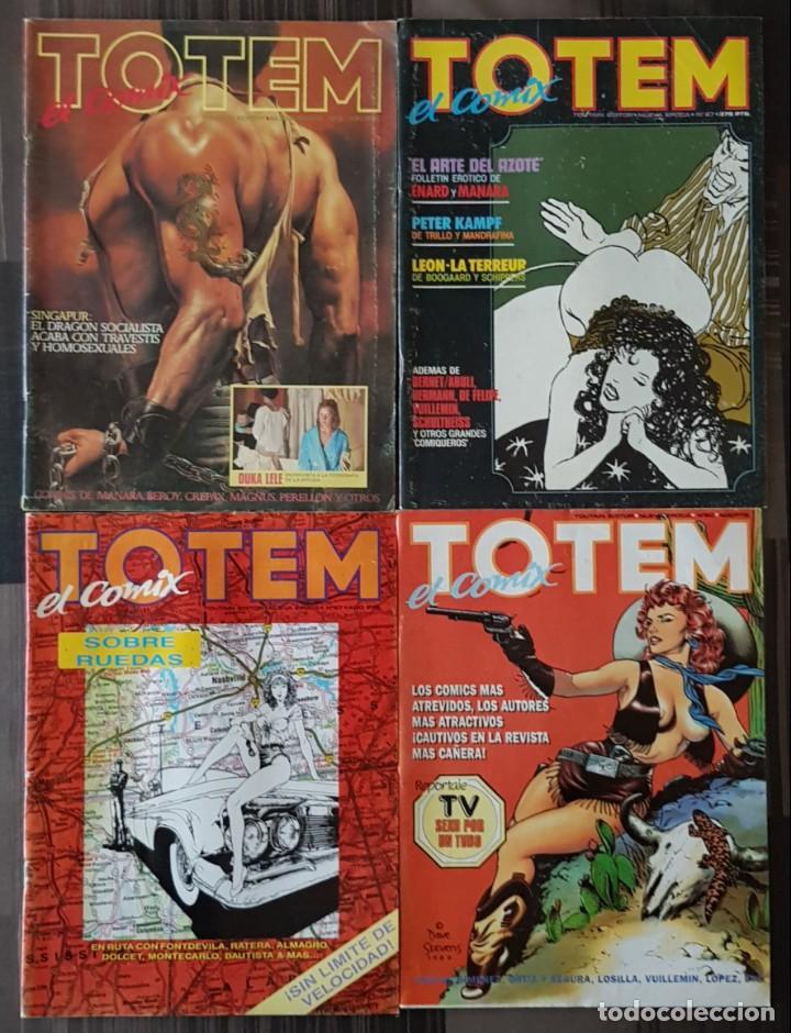 TOTEM EL COMIX. LOTE DE 4 NUMEROS (3, 27, 60 Y 67). TOUTAIN EDITOR 1986 (Tebeos y Comics - Toutain - Comix Internacional)