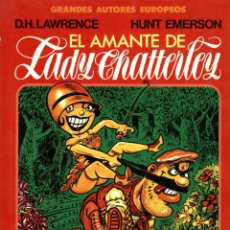 Cómics: EL AMANTE DE LADY CHATTERLEY, DE D.H. LAWRENCE Y HUNT EMERSON (TOUTAIN, 1987) GRANDES AUTORES EUROPE. Lote 139638706