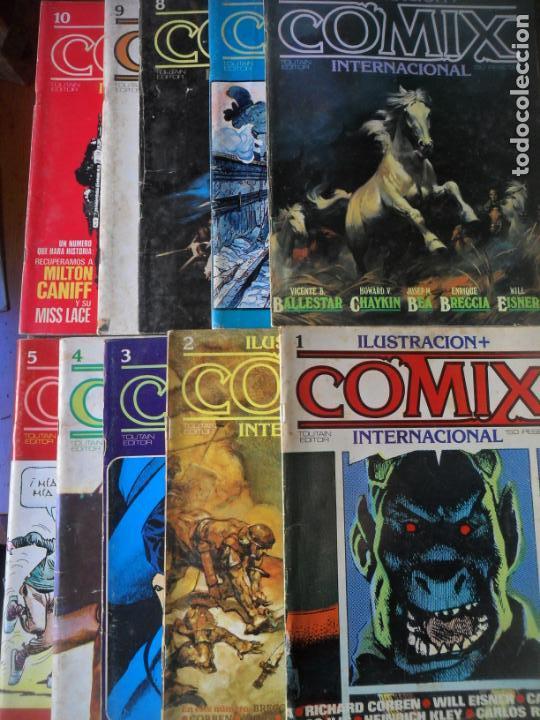 ILUSTRACION + COMIX INTERNACIONAL, LOTE DE LOS 10 PRIMEROS NUMEROS. DEL 1 AL 10 - (Tebeos y Comics - Toutain - Comix Internacional)
