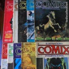 Cómics: ILUSTRACION + COMIX INTERNACIONAL, LOTE DE LOS 10 PRIMEROS NUMEROS. DEL 1 AL 10 -. Lote 139997746
