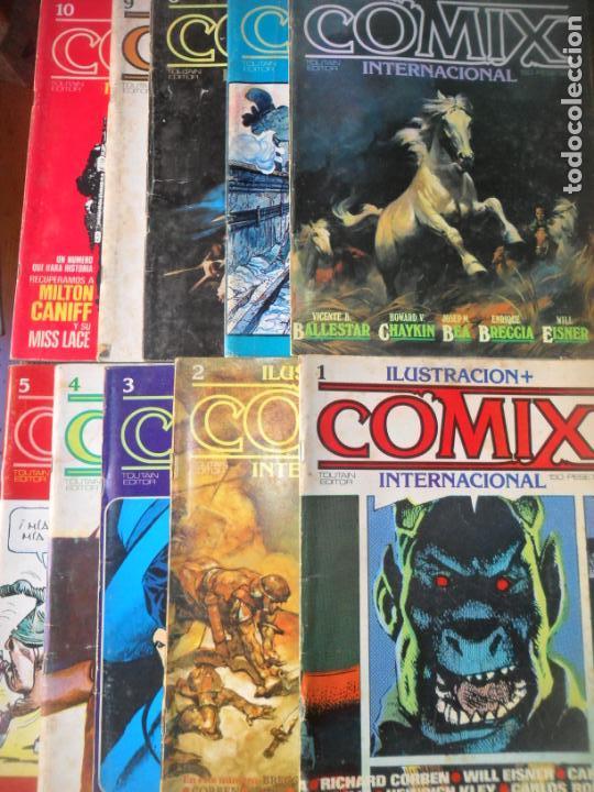 Cómics: ILUSTRACION + COMIX INTERNACIONAL, LOTE DE LOS 10 PRIMEROS NUMEROS. DEL 1 al 10 - - Foto 2 - 139997746