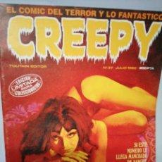 Cómics: CREEPY NUM 37 · JULIO 1982. Lote 142767418