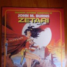 Cómics: COMIC - ZETARI - EL DEMONIO ROJO - JOHN M. BURNS - GRANDES AUTORES EUROPEOS/10 - TOUTAIN. Lote 144809538