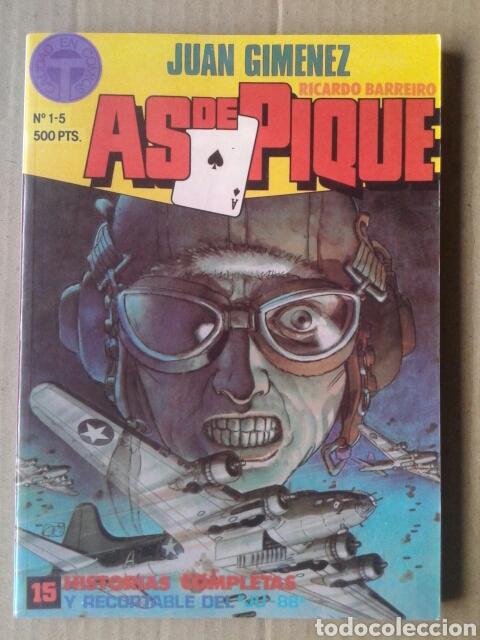 AS DE PIQUE: TOMO RECOPILATORIO CON LOS NÚMEROS 1-2-3-4-5 (TOUTAIN, 1988). POR JUAN GIMÉNEZ (Tebeos y Comics - Toutain - Otros)