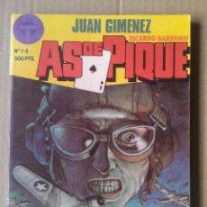 Cómics: AS DE PIQUE: TOMO RECOPILATORIO CON LOS NÚMEROS 1-2-3-4-5 (TOUTAIN, 1988). POR JUAN GIMÉNEZ. Lote 145789062