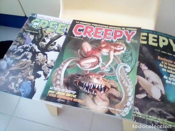 3 COMICS DE CREEPY, TERROR (Tebeos y Comics - Toutain - Creepy)