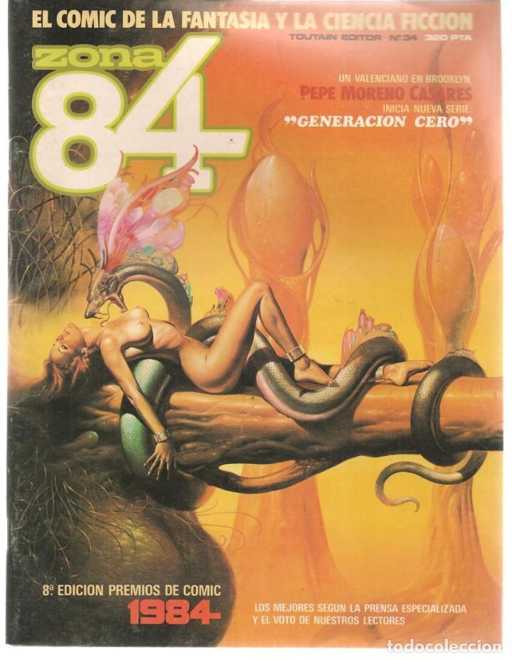 ZONA 84. Nº 34. TOUTAIN, EDITOR. (ST/C86) (Tebeos y Comics - Toutain - Zona 84)
