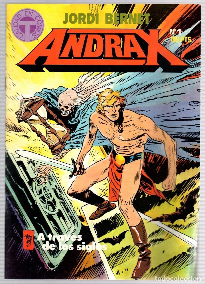 ANDRAX. JORDI BERNET. NUM. 1 AL 9. TOUTAIN, 1988 (Comics und Tebeos - Toutain - Andere Toutain)
