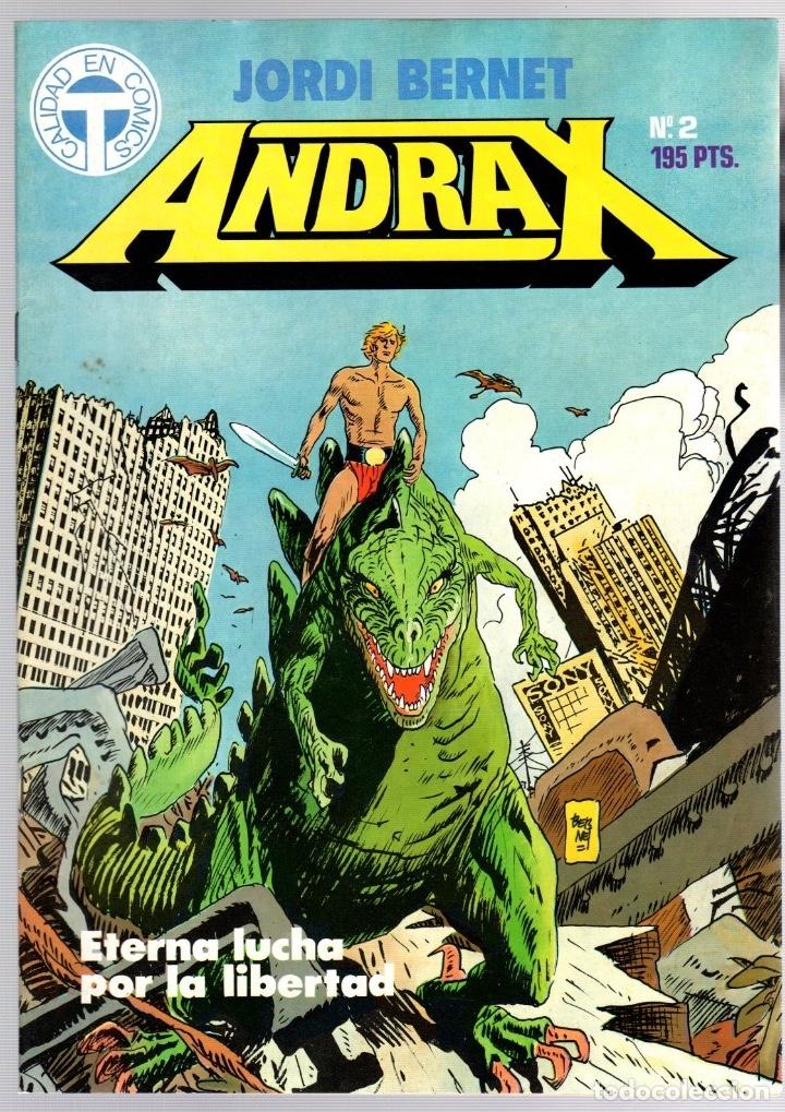 Comics: ANDRAX. JORDI BERNET. NUM. 1 AL 9. TOUTAIN, 1988 - Foto 2 - 147011398