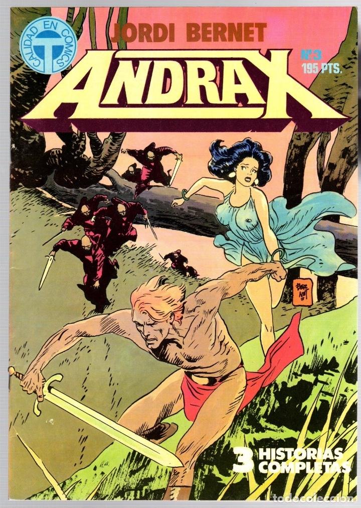 Comics: ANDRAX. JORDI BERNET. NUM. 1 AL 9. TOUTAIN, 1988 - Foto 3 - 147011398