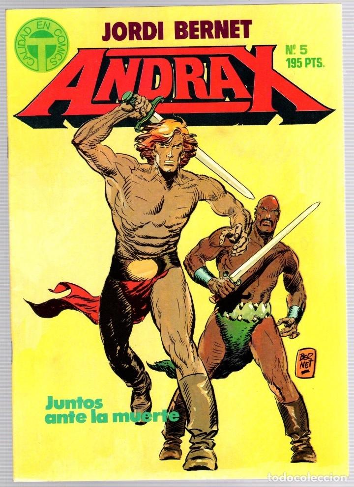 Comics: ANDRAX. JORDI BERNET. NUM. 1 AL 9. TOUTAIN, 1988 - Foto 5 - 147011398