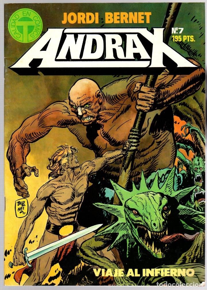 Comics: ANDRAX. JORDI BERNET. NUM. 1 AL 9. TOUTAIN, 1988 - Foto 7 - 147011398