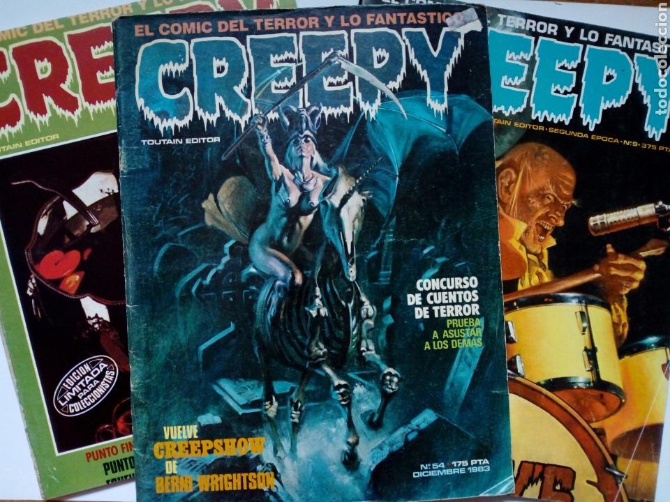 LOTE 3 NÚMEROS CREEPY: 54, 55 (1ª ÉPOCA) + 9 (2ª ÉPOCA) (Tebeos y Comics - Toutain - Creepy)