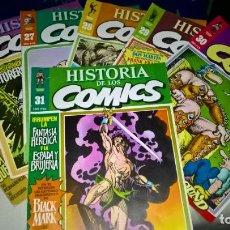 Cómics: COMICS: 7 PORTADAS DE HISTORIA DE LOS COMICS DEL 25 AL 31 (ABLN) . Lote 147948114