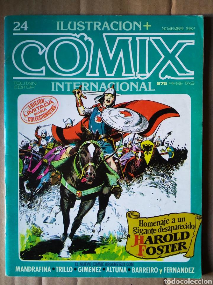 REVISTA ILUSTRACIÓN + COMIX INTERNACIONAL N°24 (TOUTAIN EDITOR, 1982). ESPECIAL HAROLD FOSTER (Tebeos y Comics - Toutain - Comix Internacional)