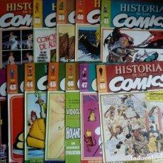 Cómics: LOTE DE 46 PORTADAS DE HISTORIA DE LOS COMICS TOUTAIN EDITORS VER DESCRIPCIÓN :) . Lote 150779910