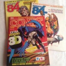 Cómics: LOTE DE TRES CÓMICS: INTERNACIONAL 44, 1984 CON GAFAS 3D Y ZONA 84 TOUTAIN 26 Y 35. Lote 150981990
