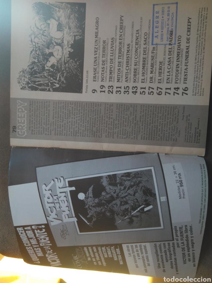 Cómics: CREEPY N 79 EXTRA- DEFUNCIÓN. ÚLTIMO DE LA COLECCIÓN. AÑO 1985. EDICIÓN LIMITADA COLECCIONISTAS - Foto 3 - 116790759
