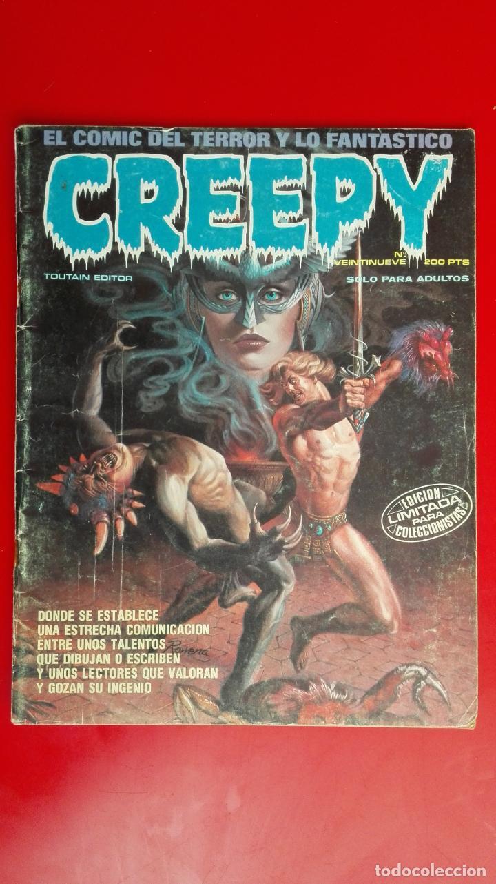 CREEPY Nº VEINTINUEVE, EL COMIC DEL TERROR Y LO FANTASTICO, EDITOR TOUTAIN (Tebeos y Comics - Toutain - Creepy)