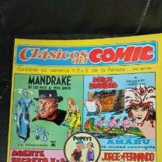 Cómics: CLASICOS DEL COMIC CONTIENE 1-2-3 DE LA REVISTA. Lote 151420466