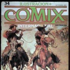 Cómics: ILUSTRACIÓN + COMIX INTERNACIONAL Nº 34 - TOUTAIN EDITOR - EDICIÓN LIMITADA PARA COLECCIONISTAS. Lote 152374418