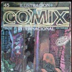 Cómics: ILUSTRACIÓN + COMIX INTERNACIONAL Nº 45 - TOUTAIN EDITOR - EDICIÓN LIMITADA PARA COLECCIONISTAS. Lote 152374626