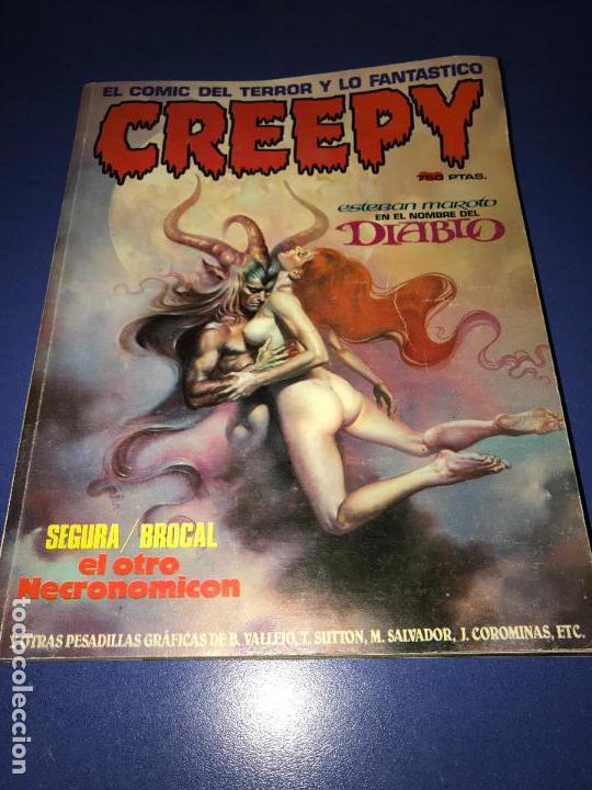 CREEPY - SEGUNDA EPOCA - NUM 4 -5 Y 6 TOUTAIN EDITOR PORTADA DEL 5 ARRANCADA (Tebeos y Comics - Toutain - Otros)