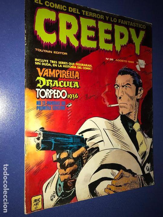 REVISTA CREEPY N°38 (TOUTAIN EDITOR, 1982). EL CÓMIC DEL TERROR Y LO FANTÁSTICO. 60 PÁGINAS (Tebeos y Comics - Toutain - Otros)