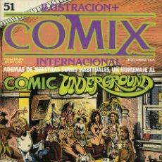 Cómics: ILUSTRACION + COMIX INTERNACIONAL. Nº 51. Lote 154134630