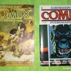 Cómics: PRIMEROS DIEZ NÚMEROS - ILUSTRACIÓN + COMIX INTERNACIONAL - BUEN ESTADO VER FOTOS. Lote 155319138