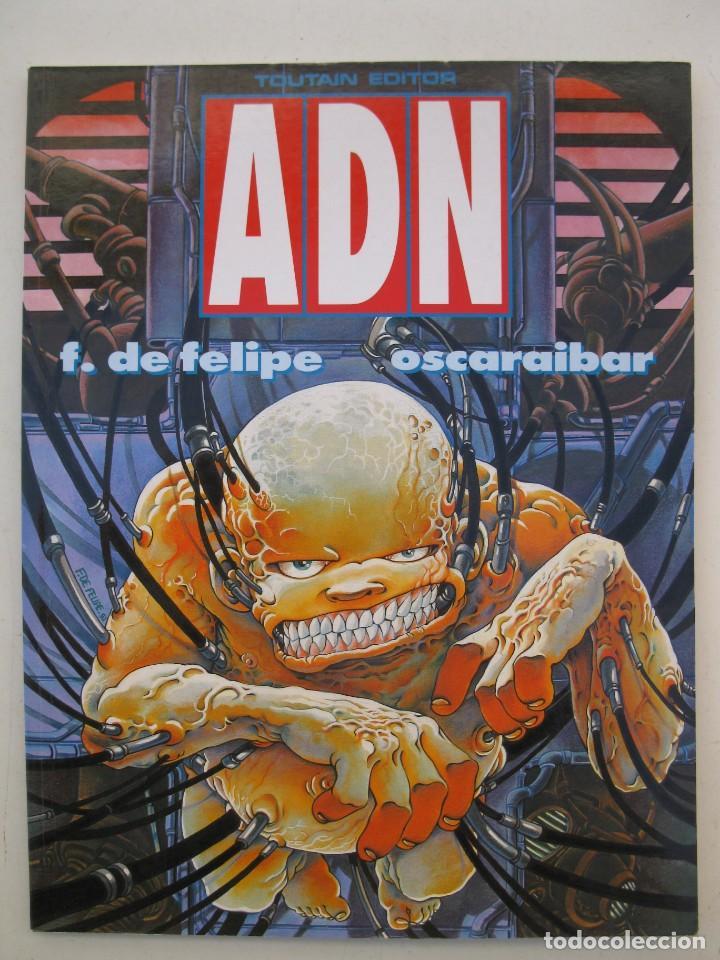 ADN - FERNANDO DE FELIPE - OSCAR AIBAR - TOUTAIN EDITOR - AÑO 1990. (Tebeos y Comics - Toutain - Otros)