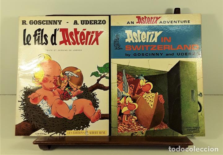 ASTERIX. 2 EJEMPLARES. INGLÉS-FRANCÉS. VARIAS EDITORIALES. 1970/1990. (Tebeos y Comics - Toutain - Comix Internacional)