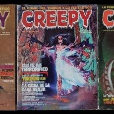 Cómics: CREEPY. LOTE DE 3 COMICS (5, 40 Y 59). TOUTAIN EDITOR 1979. Lote 133706242